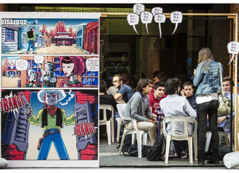 Bang bang!. Viñetas Vivas. Zarva Barroso. Art Public, 2013. Valencia