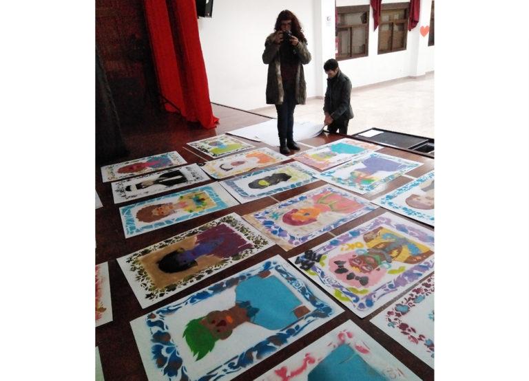 Proyecto Identidades. Colaboran: IE Melchor Jovellanos. Lugar: Salón de Actos, IE Melchor de Jovellanos. Alhucemos, Marruecos, 2018.