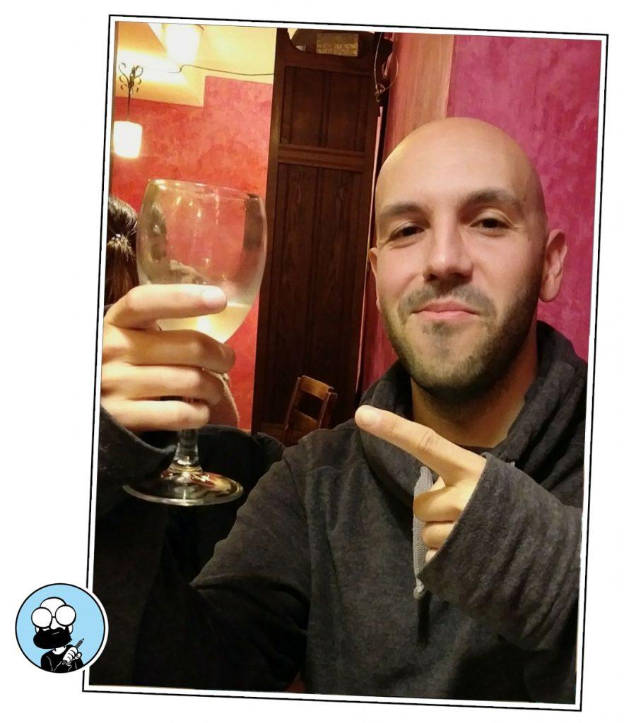 UN vinito con Dani Danius. Zarvabarroso.com